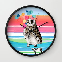 MERRY OWL Wall Clock