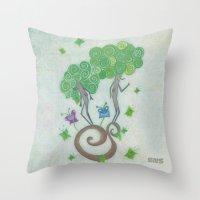 surrealism Throw Pillows featuring Tree Surrealism by Design SNS - Sinais Velasco