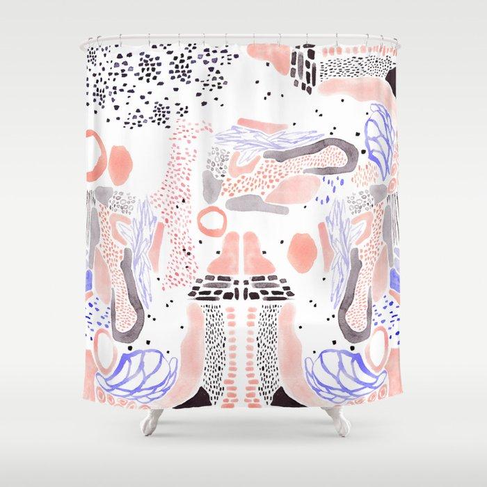 Brushstroke Collage Shower Curtain By Mijilee