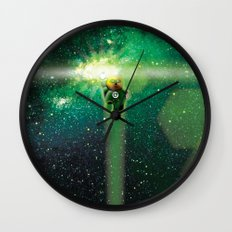 Super Bears - ACTION! the Green One Wall Clock