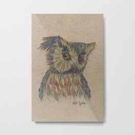 Animals and What They Think of Us: Flirtatious Owl Metal Print