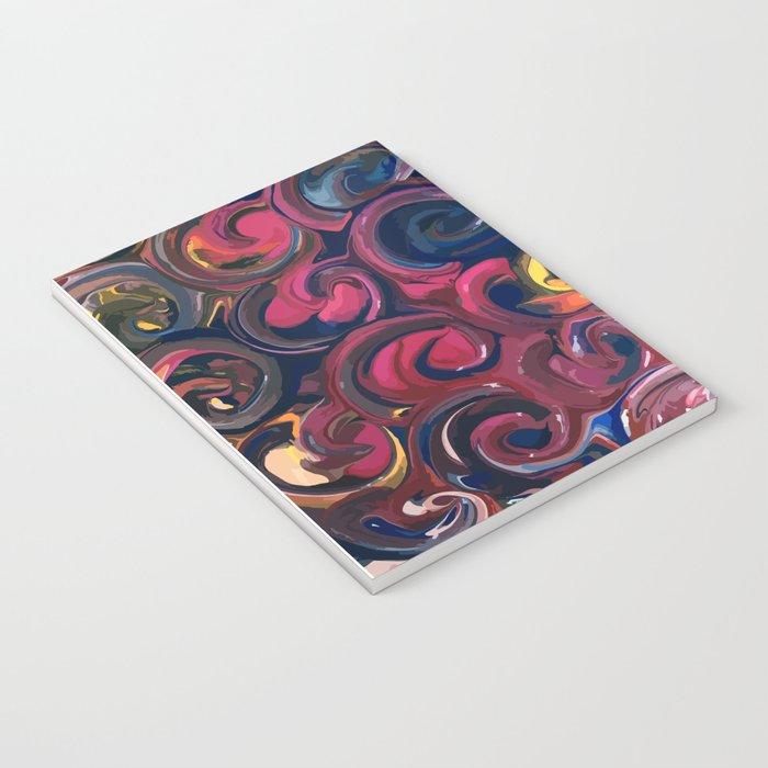PAINT SWIRLS Notebook