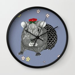 Ms Guinea Pig is dressed up and ready to go party Wall Clock