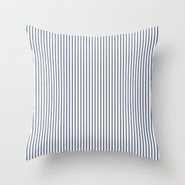 Blue ticking stripes Throw Pillow