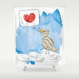 The bird on the cloud Shower Curtain