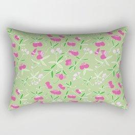 Summer Pink Flower Rectangular Pillow
