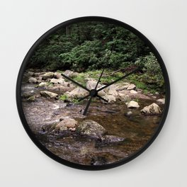 Jacob Fork River at South Mountains State Park North Carolina Wall Clock
