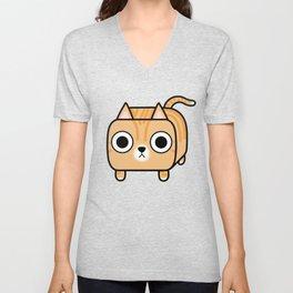 Cat Loaf - Orange Tabby Kitty Unisex V-Neck