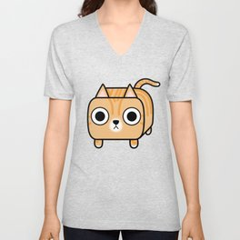 Cat Loaf - Orange Tabby Kitty Unisex V-Neck