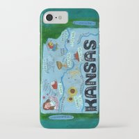 kansas city iPhone & iPod Cases featuring KANSAS by Christiane Engel