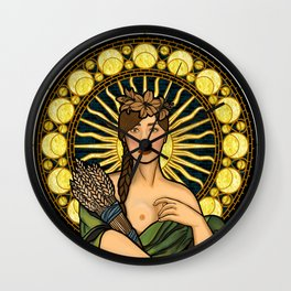 Queen of gluten/Goddess of harvest Wall Clock