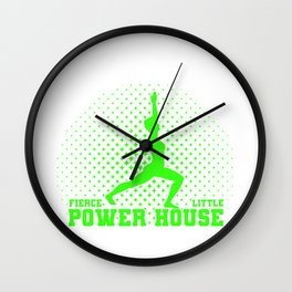 Gymnastics Gift Fierce Litte Power House Gymnast Wall Clock