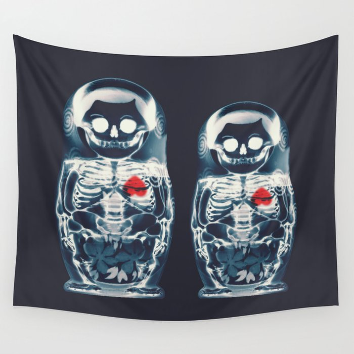 Nesting Doll X Ray Wall Tapestry By Aligulec Society6