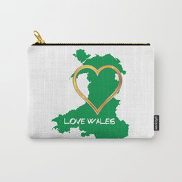Love Wales Map Silhouette Heart Carry-All Pouch
