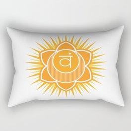 Svadhisthana chakra Rectangular Pillow