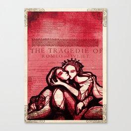 Romeo & Juliet - Shakespeare Folio Illustration Art Canvas Print