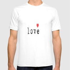Love Me  White Mens Fitted Tee MEDIUM