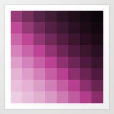 Pixel Gradient Art Print