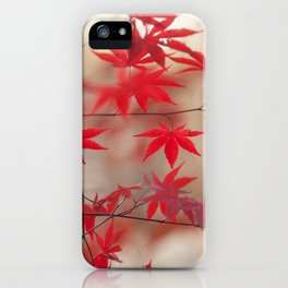 Cream and Red iPhone Case