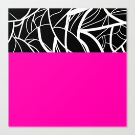 Pink Zebra Canvas Print