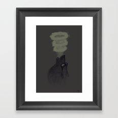Huff and Puff Framed Art Print