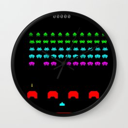 Invaders game Wall Clock