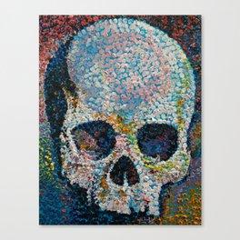 Pointillism Skull Canvas Print