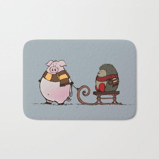 Pig and hedgehog Bath Mat