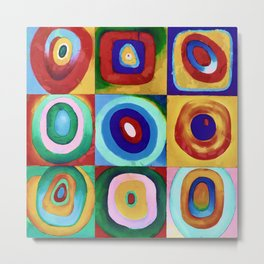 Colorful circles tile Metal Print