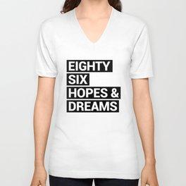 eighty sex hopes and dream birthday Unisex V-Neck