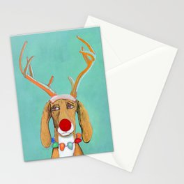 George the Holiday Hound Stationery Cards