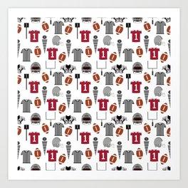 Football Alabama pattern university of alabama crimson tide college sports bama varsity alumni Art Print