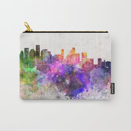Houston skyline in watercolor background Carry-All Pouch
