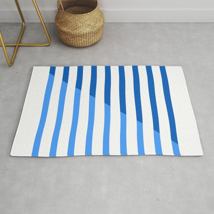 Beach Stripes Blue Rug