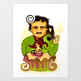 Tea with Poe Art Print