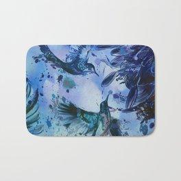 Birds In Flight Abstract Bath Mat