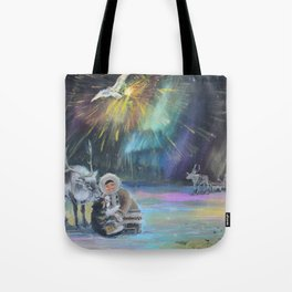 Inuit Happy New Year Tote Bag