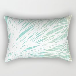 Doodle Flowers in Mint by Friztin Rectangular Pillow