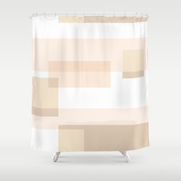 Overlay in Cream Shower Curtain