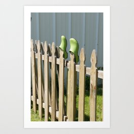 Left at the Fence Art Print