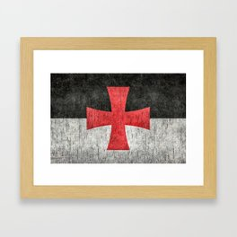Knights Templar Symbol with super grungy textures Framed Art Print