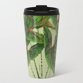 Grungy antique style  Botanical Art Travel Mug