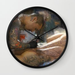 Horimono Wall Clock