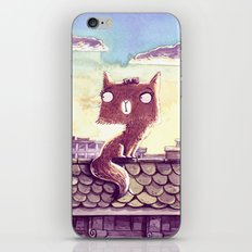 Cats on the roof iPhone & iPod Skin