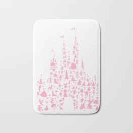 pink and white castle Bath Mat