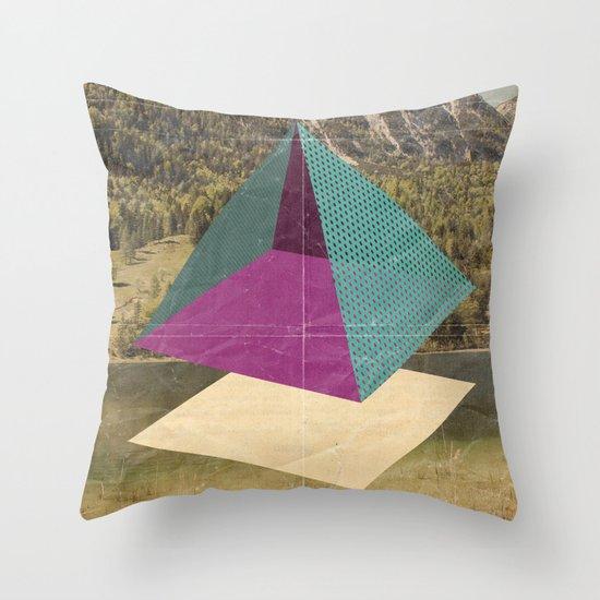 piramidi&nuvole Throw Pillow