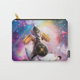 Warrior Space Cat Riding Axolotl - Hotdog Carry-All Pouch