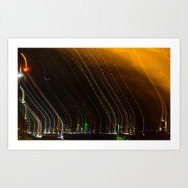 Blurred Dallas Skyline Art Print