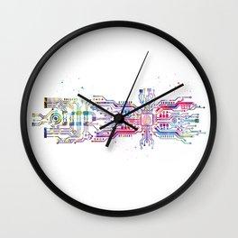Circuit board with brain Wall Clock