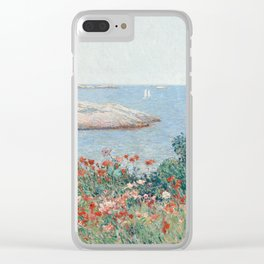 Poppies, Isles of Shoals 1891 by Childe Hassam Clear iPhone Case